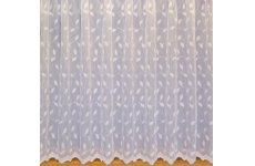 SAPPHIRE: white all over embroidered voile  priced per metre