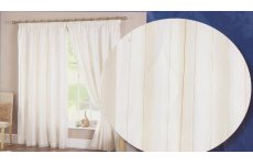 FUSION IVORY PENCIL PLEAT HEADING  LINED CURTAINS