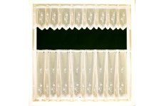 FLORENCE CREAM VOILE CAFE CURTAIN
