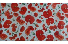 POPPY PVC TABLE COVERING 140CM WIDE CHANGE QUANTITY IN THE BOX PRICED PER METRE