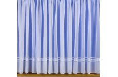 SYLVIE VOILE  NET CURTAIN Lead weighted curtain: priced per metre