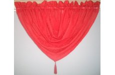 ROXY RED CRUSHED VOILE SWAG WITH TASSEL