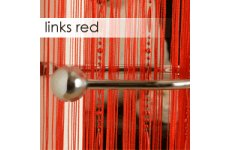 RED STRINGS WITH SILVER PLASTIC STRINGS(FOR CHAIN LOOK EFFECT) PRICE IS PER PAIR