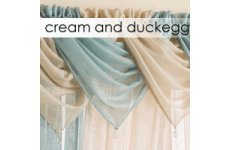 CREAM OR DUCK EGG  SWAG DROP 53CM APPROX WIDTH WHILST HANGING 60CM PRICE IS FOR ONE SWAG