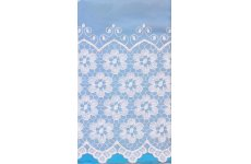 COURTNEY WHITE VOILE EMBROIDERED BASE CLEARANCE 42 INCHES DROP ONLY shortened free of charge