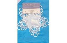 CREAM SWISS MACRAME LACE DOILEY/COASTER