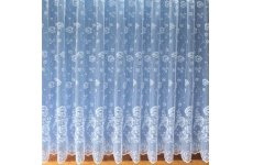 JORDAN WHITE NET CURTAIN ALLOVER DELICATE DESIGN POLISHED YARN