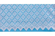 DIOR WHITE NET CURTAIN GEOMETRIC ALLOVER DESIGN