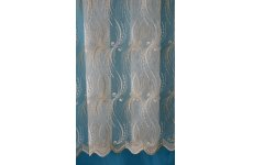 JENNIFER CREAM & GOLD NET CURTAIN comes in 108