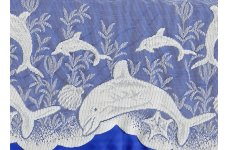CREAM DOLPHINS CAFE CURTAIN limited stock available