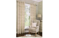 JULIET LINED EYELET CURTAINS 100% COTTON