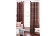 HIGHLAND EYELET CURTAINS FULLY LINED PRICE PER PAIR