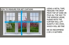 MEASURING GUIDE FOR NET CURTAINS