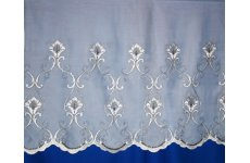 Portsmouth white voile with black embroidery