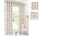 OXFORD eyelet lined curtains 100% cotton printed