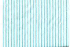 TURQUOISE  & WHITE STRIPPED COTTON FABRIC PRICE IS PER METRE