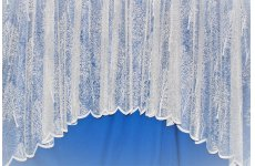 Sherwood Forest white  lace curtain jardiniere