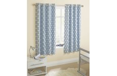 ECLIPSE BLUE EYELET CURTAINS LAST PAIR