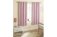 ECLIPSE PINK EYELET CURTAINS LAST PAIR