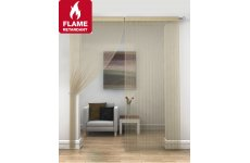 FR Treated Gold  string curtains priced per pair