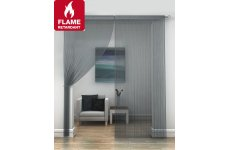 FR Treated Pewter string curtains priced per pair