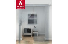 FR Treated Silver string curtains priced per pair