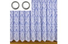 Claudia white lace with eyelet curtain tape