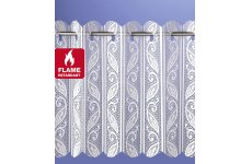 FR WHITE OR CREAM CORSICA LACE PLEATED BLINDS WIDTH 183CM