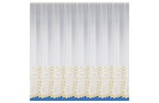 Windsor white voile with gold  embroidered yarn