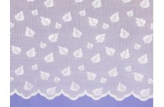 LEAVES WHITE NET CURTAIN: priced per metre limited stock available