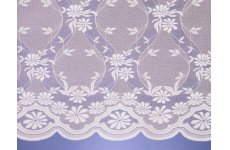 CAMBRIDGE  NET CURTAIN:vintage lace look  priced per metre discontinued limited stock