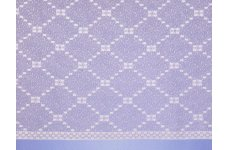 CUBIC WHITE  NET CURTAIN: priced per metre
