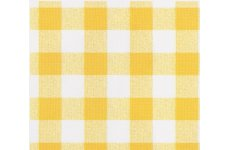 GINGHAM YELLOW PVC TABLECOVERING JUSTWIPE: roll end 2mtrs