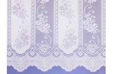 CANDICE WHITE NET CURTAIN: PRICED PER METRE