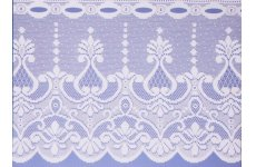 KASBAH CAFE CURTAIN WHITE OR CREAM: priced per metre