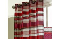 COMO CERISE/ RED ORGANZA PANEL 54inches drop x 55inches wide price is each panel
