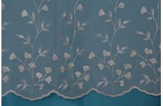 KARA WHITE EMBROIDERED VOILE