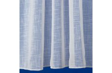 LEICESTER WHITE TEXTURED COTTON LOOK VOILE CURTAIN