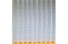 CHANTEL WHITE  NET CURTAIN:priced per metre