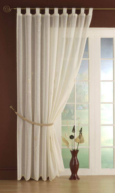 Linen Tulip Cream Panel 59 Net Curtain 2 Curtains