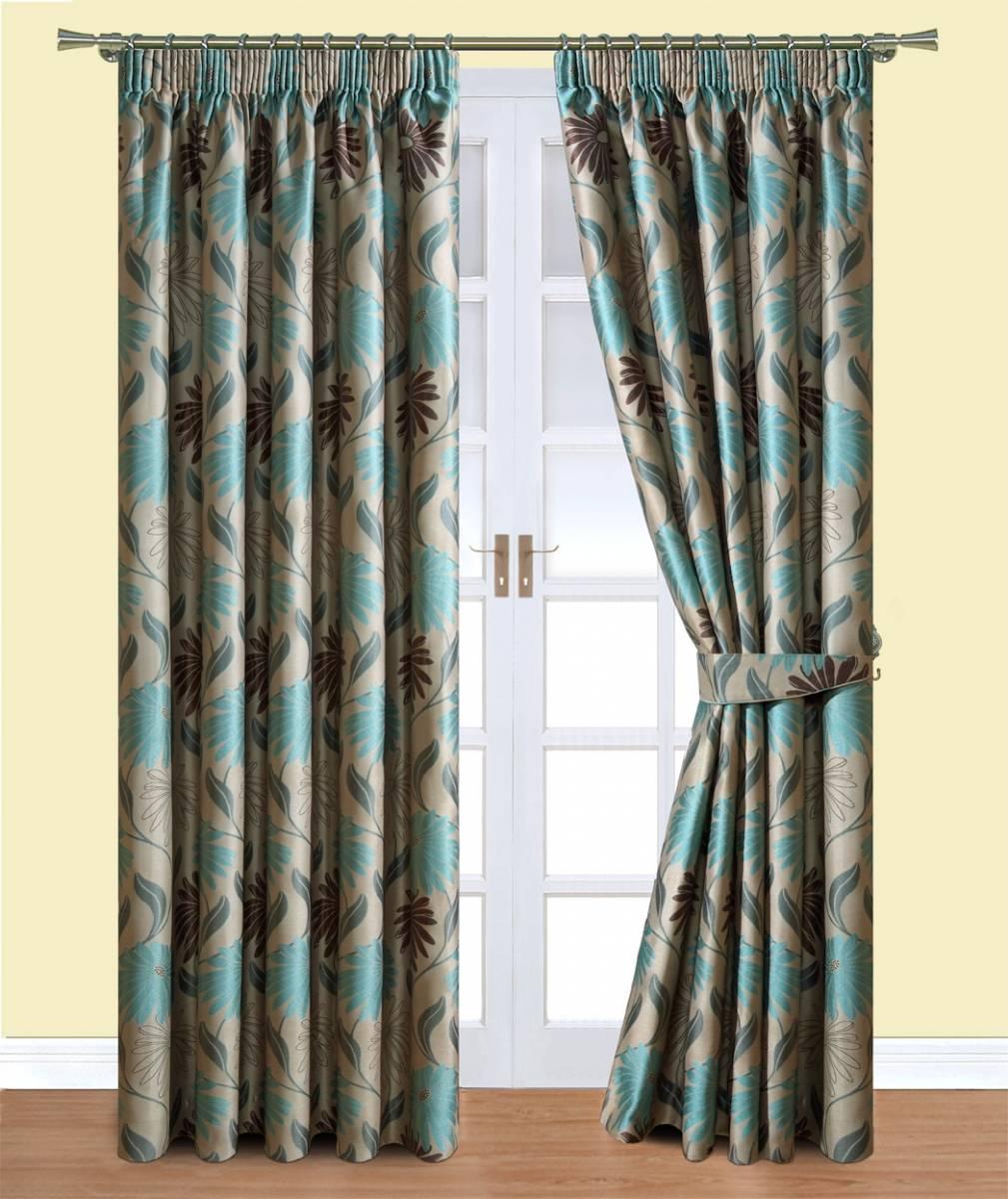 Davie Teal Belfield Curtains Net Curtain 2 Curtains